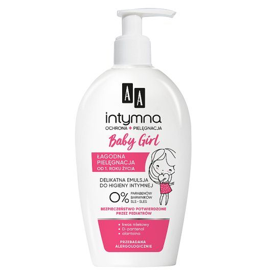 AA Intimate Baby Girl 0% emulsion for intimate hygiene from the age of 1 dispenser 300 ml