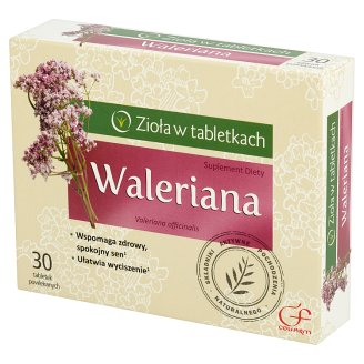 Colfarm Zioła w tabletkach Valerian Dietary Supplement 30 Tablets