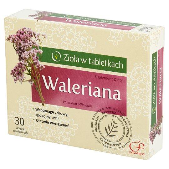 Colfarm Zioła w tabletkach Waleriana Suplement diety 30 tabletek
