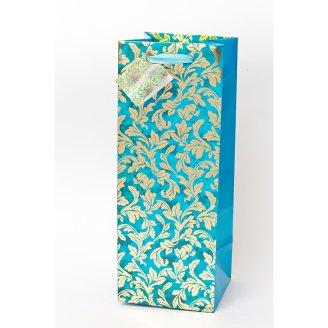 Torebka papierowa ekskluzywna ze złoceniami na butelkę 170g/m4