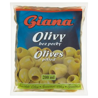 Giana Spanish Green Olives Pitted in Brine 195 g