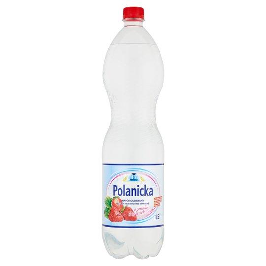 Polanicka Napój gazowany na bazie naturalnej wody mineralnej o smaku truskawkowym 1,5 l