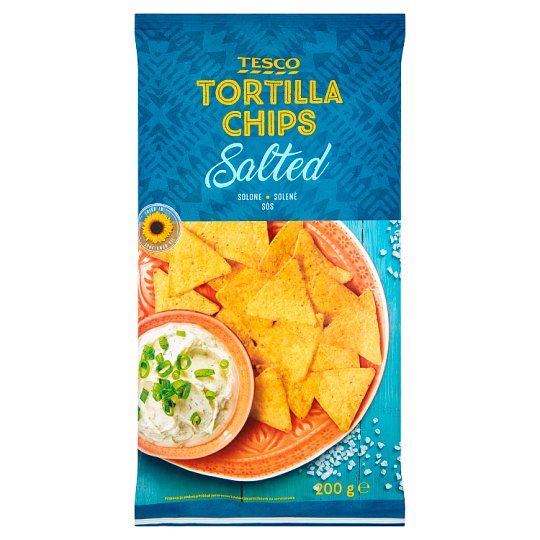 Tesco Tortilla Chips Salted 200 g