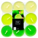 F&F Home Lime Tealights Mixed 18 Pieces