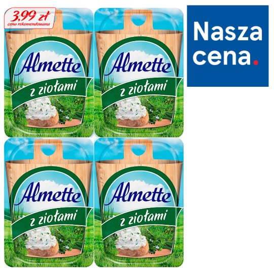 Almette Fluffy Cottage Cheese with Herbs 120 g ( 4 x 30 g)