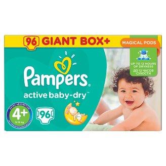 Pampers Active Baby-Dry Pieluszki 4+ (Maxi+), 96 sztuk