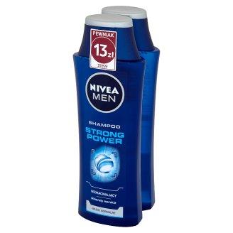 NIVEA MEN Strong Power Szampon wzmacniający włosy normalne 2 x 250 ml