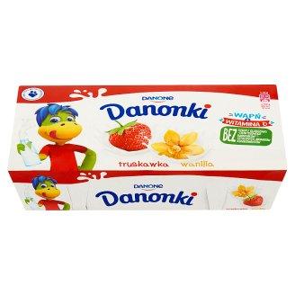 Danone Danonki truskawka wanilia Twarożek 400 g (8 sztuk)