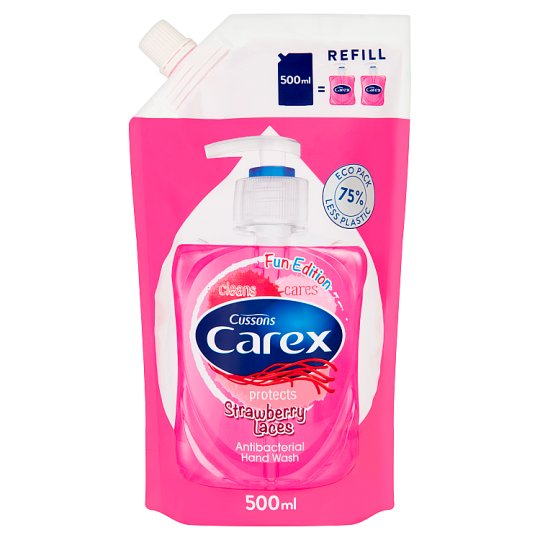 Carex Strawberry Laces Antibacterial Hand Wash Refill 500 ml