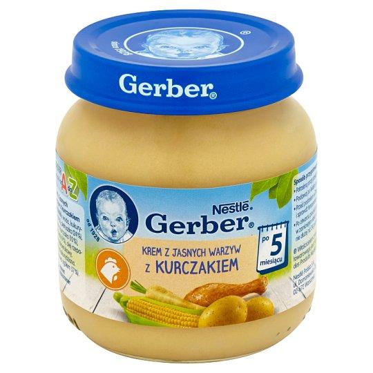 Gerber Krem z jasnych warzyw z kurczakiem po 5 miesiącu 125 g