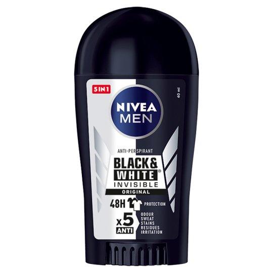 NIVEA MEN Black&White Invisible Original Antyperspirant w sztyfcie 40 ml