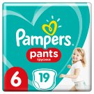 Pampers Pants Size 6, 19 Nappies, 15kg+, Absorbing Channels