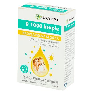 Evital Suplement diety D 1000 krople 10 ml
