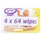 Gaga Premium Sensitive Bezzapachowe chusteczki dla dzieci 4 x 64 sztuki