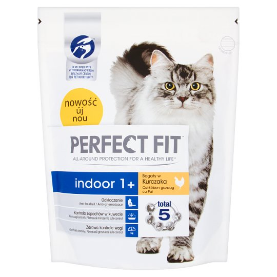 Perfect Fit Indoor 1+ Complete Pet Food for Adult Cats 750 g