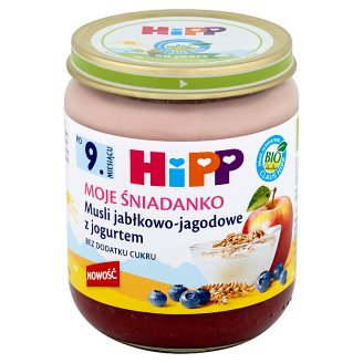 HiPP BIO Moje Śniadanko Apple-Blueberry Muesli with Yoghurt after 9. Months Onwards 160 g