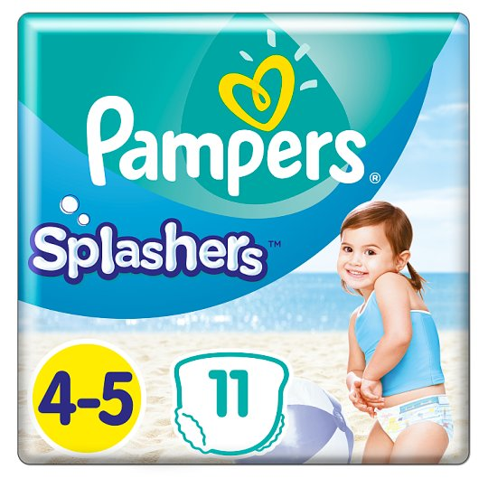 Pampers Splashers Size 4, 11 Disposable Swim Pants