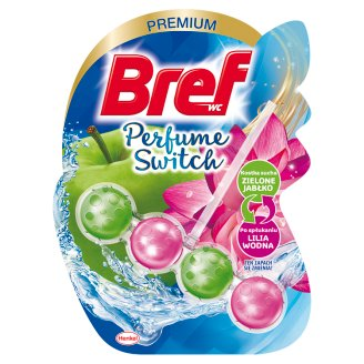 Bref WC Perfume Switch Green Apple-Water Lily Toilet Rim Block 50 g
