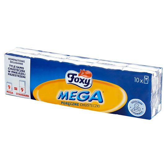 Foxy Mega Handy Tissues 10 x 9 Pieces