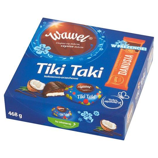 Wawel Tiki Taki Coconut-Peanut Filled Chocolates 468 g