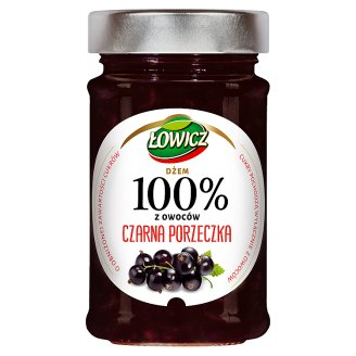 Łowicz Blackcurrant 100% Fruits Jam 220 g