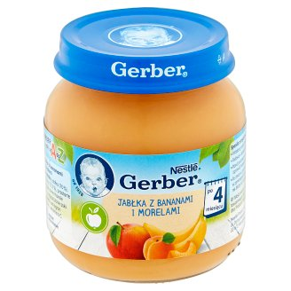 Gerber Apple with Banana and Apricot after 4 Months Onwards 125 g