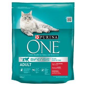 PURINA ONE Adult Complete Food for Cats with Beef and Whole Grains 800 g