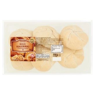 Tesco Kaiser Self-Baking Rolls 300 g (6 Pieces)