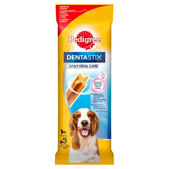 Pedigree DentaStix 10-25 kg Supplementary Dog Food 77 g (3 Pieces)