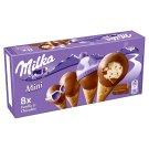 Milka Mini Lody o smaku waniliowym z kawałkami czekolady mlecznej w polewie 200 ml (8 x 25 ml)