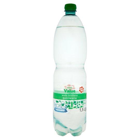 Tesco Value Sparkling Spring Water 1.5 L