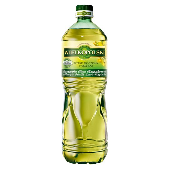 Wielkopolski Rapeseed Oil with 5% Extra Virgin Olive Oil Mix 1 L