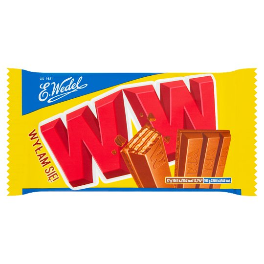 E. Wedel WW Four Wafers with Peanut Filling in Milk Chocolate 47 g