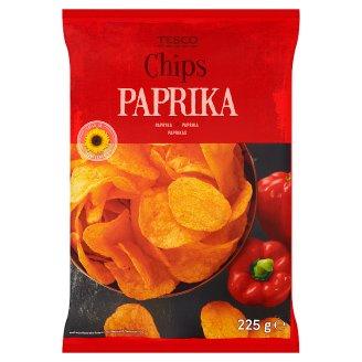 Tesco Paprika Flavour Chips 225 g