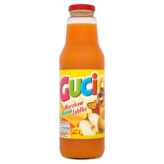 Gucio Carrot Banana and Apple Juice Enriched with Vitamin C 750 ml