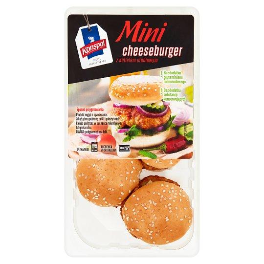 Konspol Mini cheeseburger z kotletem drobiowym 245 g