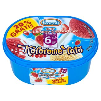 Koral Kolorowe Lato Cream Strawberry Ice Cream 1.2 L