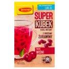 Winiary Super kisiel smak wiśni z owocami żurawiny 27 g