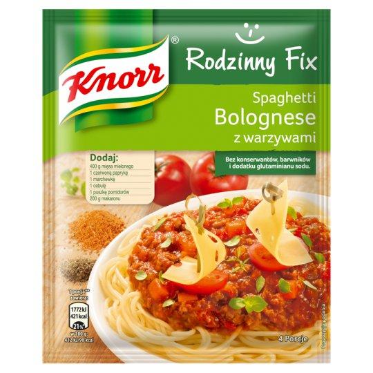 Knorr Rodzinny Fix Spaghetti Bolognese z warzywami 48 g