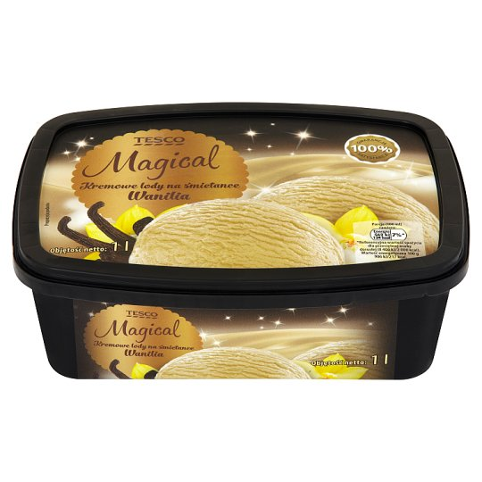 Tesco Magical Wanilia Kremowe lody na śmietance 1 l