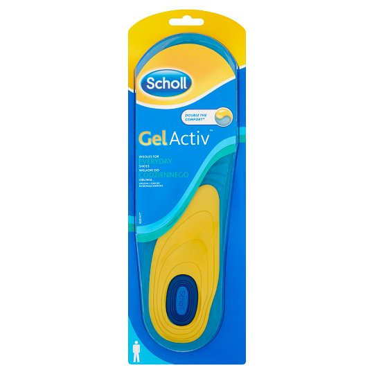 Scholl GelActiv Men's Insoles for Everyday Footwear Size 40-46,5