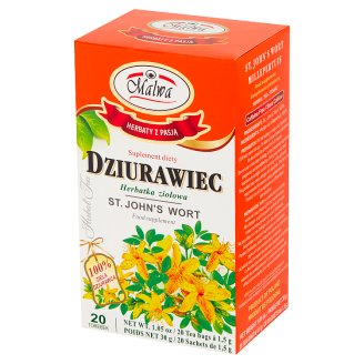 Malwa St. John's Wort Diet Supplement Herbal Tea 30 g (20 Tea Bags)