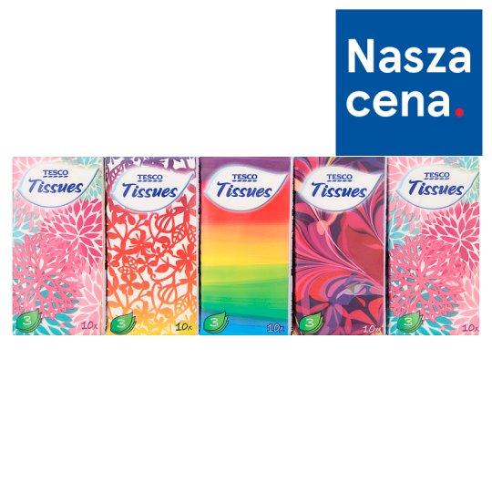 Tesco Tissues 3 Ply 10 x 10 Pieces