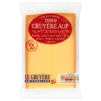 Tesco Gruyère AOP Ful Fat Hard Cheese 195 g