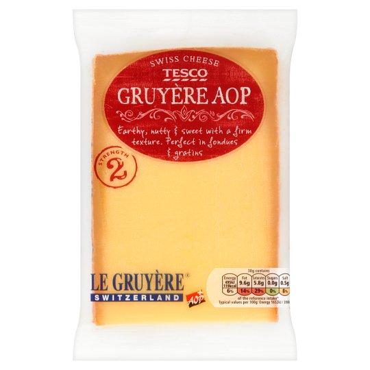 Tesco Gruyère AOP Ful Fat Hard Cheese 195 g