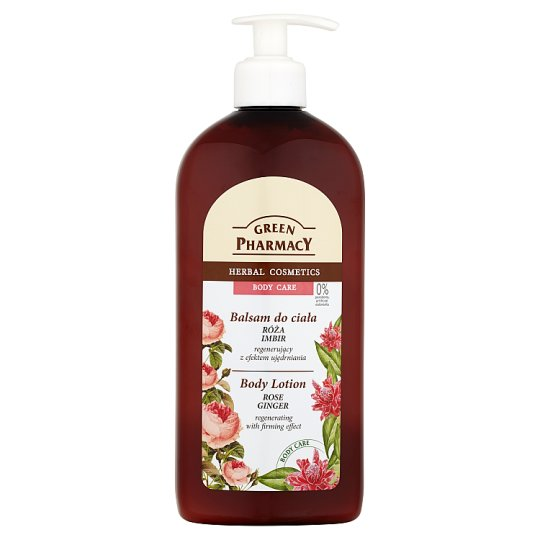 Green Pharmacy Rose Ginger Body Lotion Regenerating with Firming Effect 500 ml