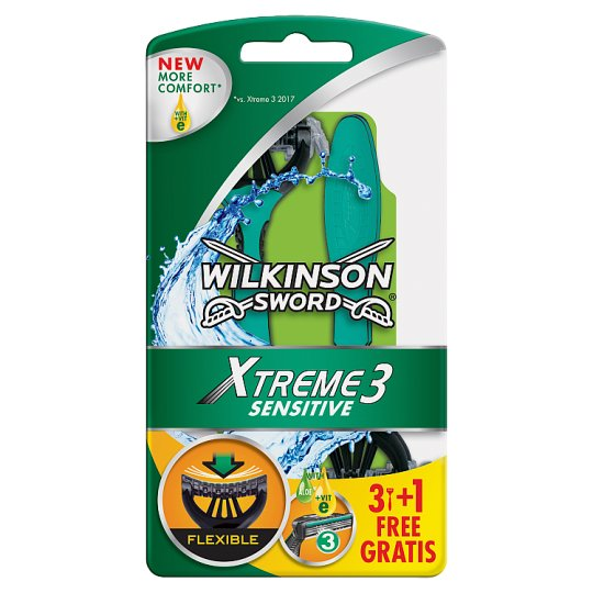 Wilkinson Sword Xtreme3 Sensitive Disposable Razors 4 Pieces