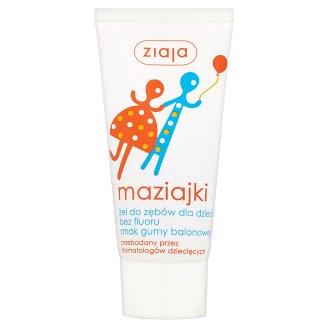 Ziaja Maziajki Bubble Gum Flavoured Gel Toothpaste for Children without Fluoride 50 ml