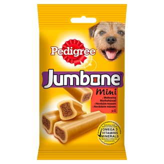 Pedigree Jumbone Mini with Beef Supplementary Pet Food 180 g (4 Pieces)