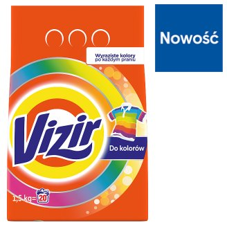 Vizir Color Laundry Powder Detergent 1,5 kg 20 Washes